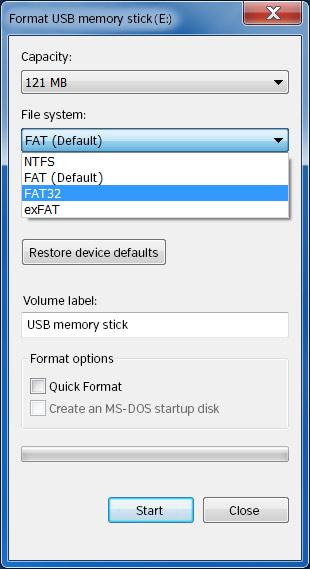 USB FAT32 en