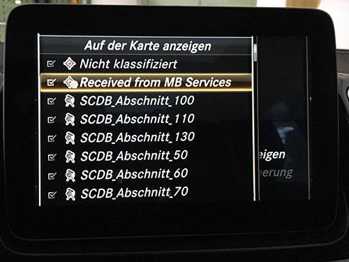 Blitzer für Mercedes COMAND Online & MBUX - SCDB info - Die
