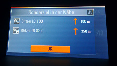 Speed cameras for Opel Navi 600 & Navi 900 - SCDB info - The